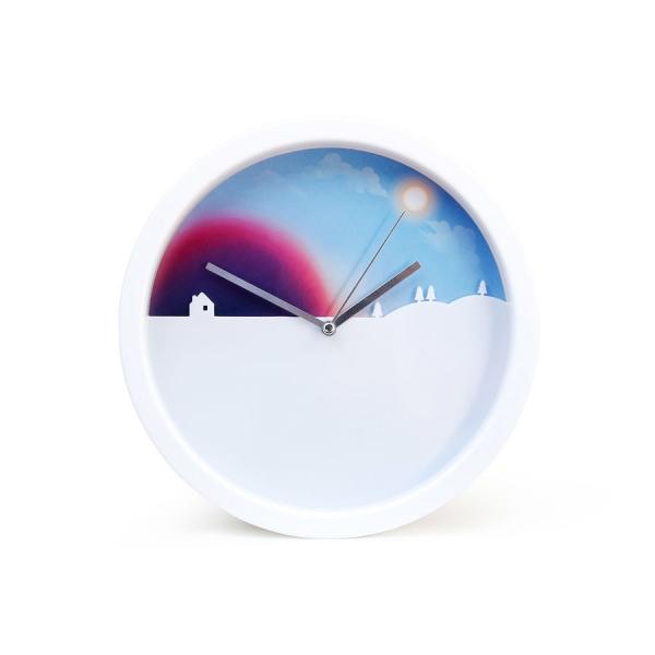 Часы настенные day and night с цветным циферблатом