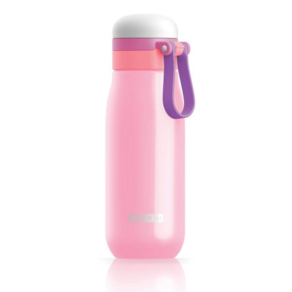 Бутылка вакуумная из нержавеющей стали 500 мл розовая