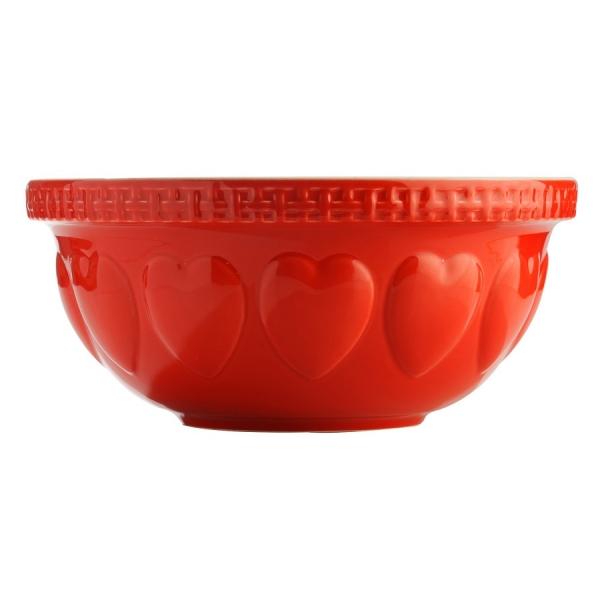 Миска hearts 29 см красная
