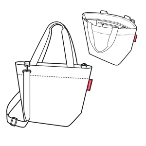 Сумка shopper xs glencheck red