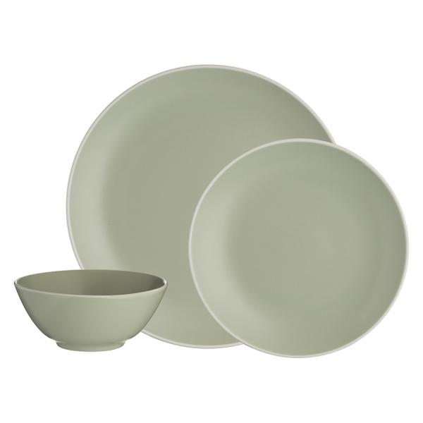 Набор обеденной посуды classic 12 предметов зеленый