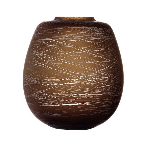 Ваза boulder 26 см коричневая
