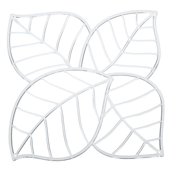 Набор из 4 декоративных элементов leaf, прозрачный