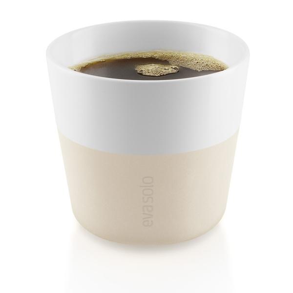 Чашки для лунго 2 шт 230 мл бежевый
