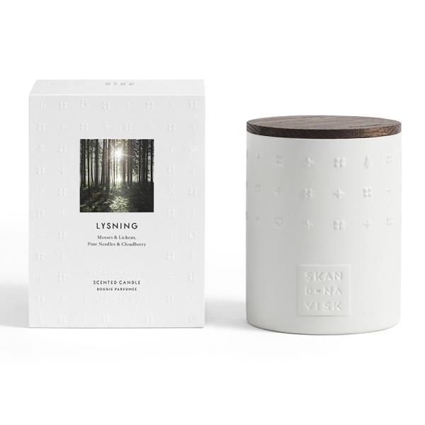 Свеча ароматическая lysning с крышкой, керамика, 300 г
