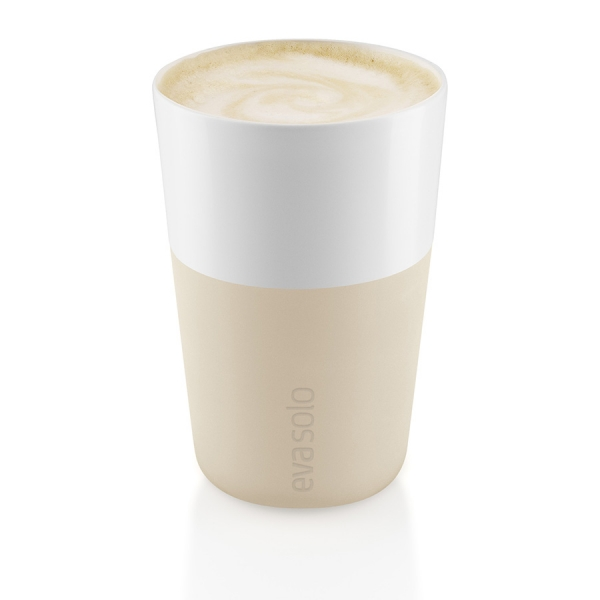 Чашки для латте 2 шт 360 мл бежевый