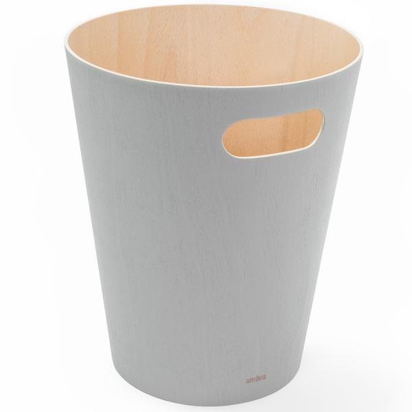 Корзина для мусора woodrow серая