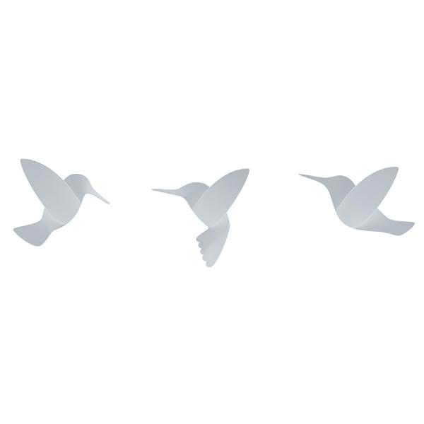 Декор для стен hummingbird 9 элементов белый