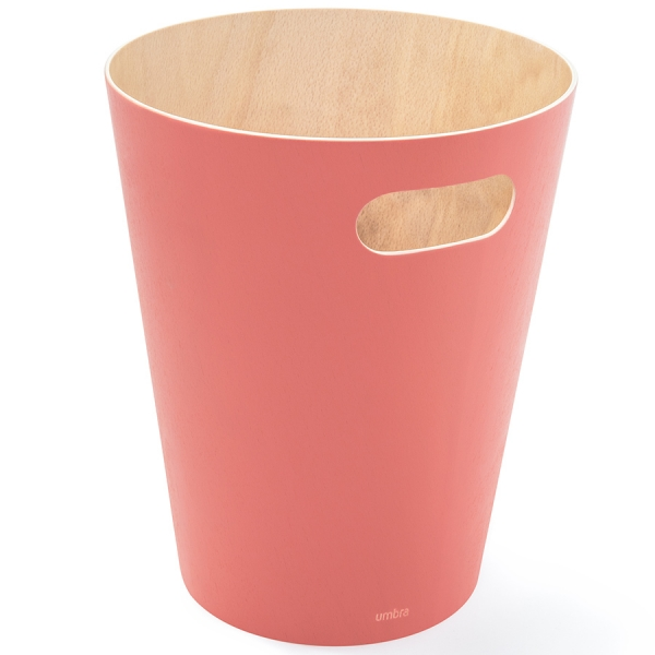 Корзина для мусора woodrow коралловая