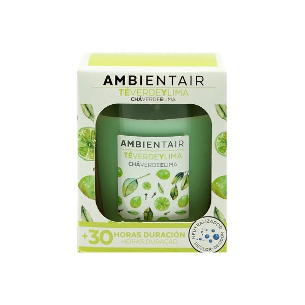 Свеча ароматическая «Зеленый чай и лайм» 30 ч