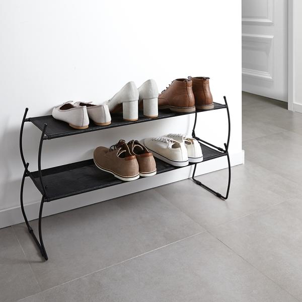 Полка для обуви Imelda черная