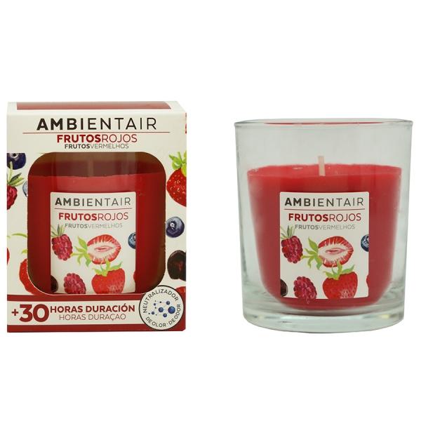 Свеча ароматическая «Красные фрукты» 30 ч
