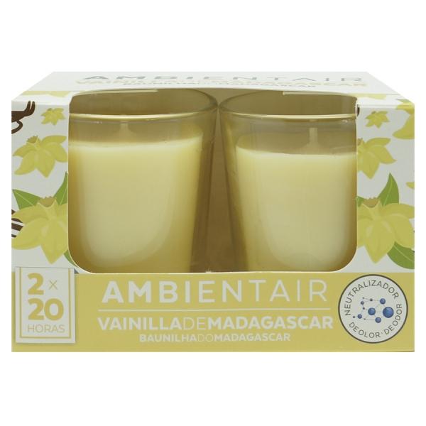 Набор из 2 ароматических свечей  «Мадагаскарская ваниль» 20 ч