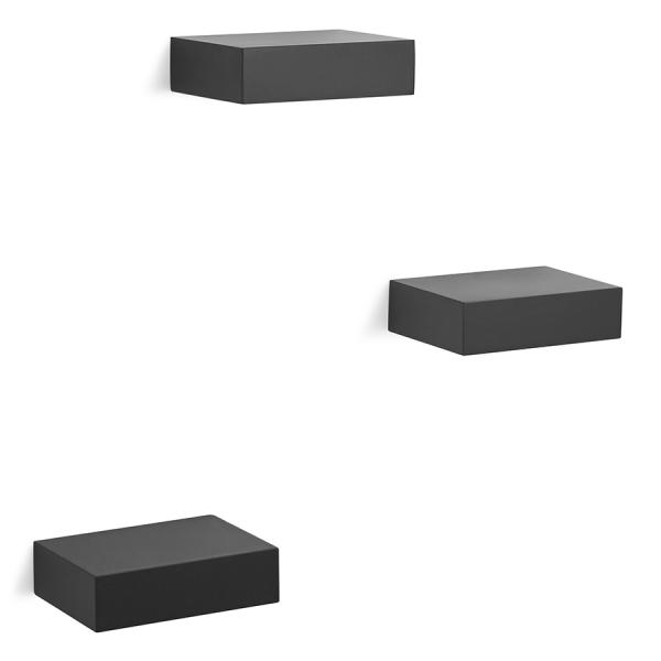 Набор из 3 полок showcase черный