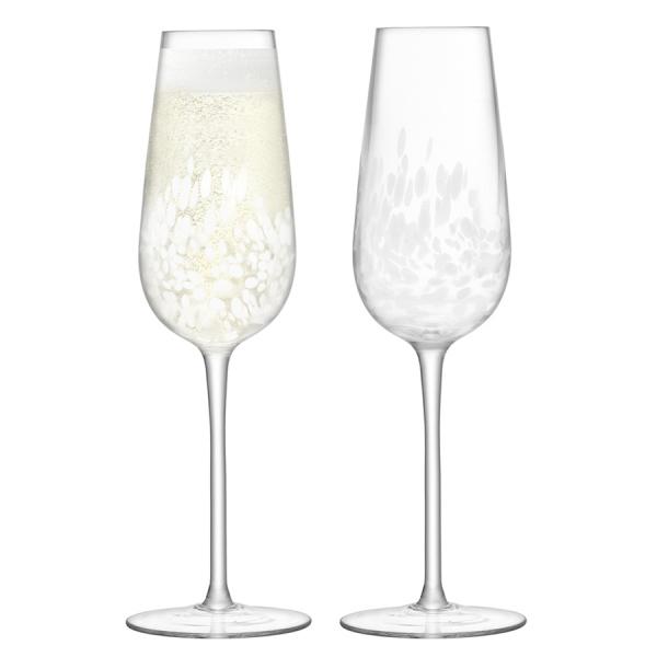 Набор из 2 бокалов-флейт для шампанского stipple 250 мл