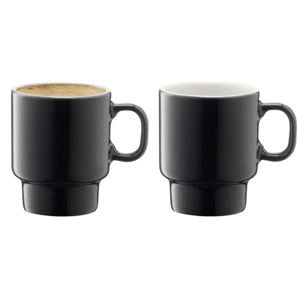 Набор из 2 чашек для эспрессо utility 70 мл серый