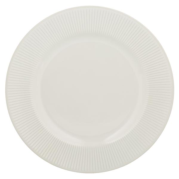 Обеденная тарелка linear 27 см белая