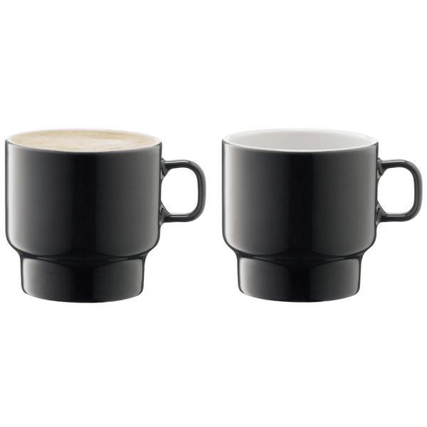 Набор из 2 чашек для флэт-уайт кофе utility 280 мл серый