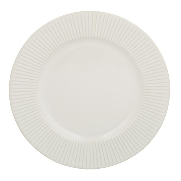 Тарелка linear 21 см белая