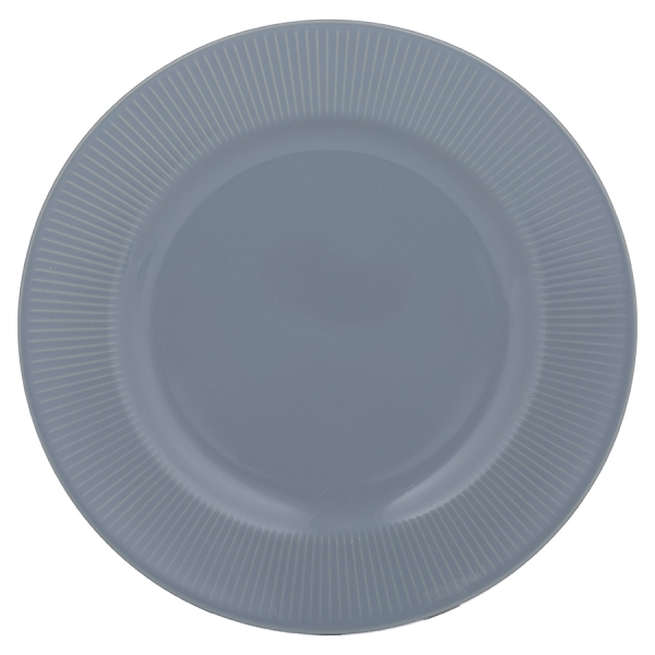 Обеденная тарелка linear 27 см синяя