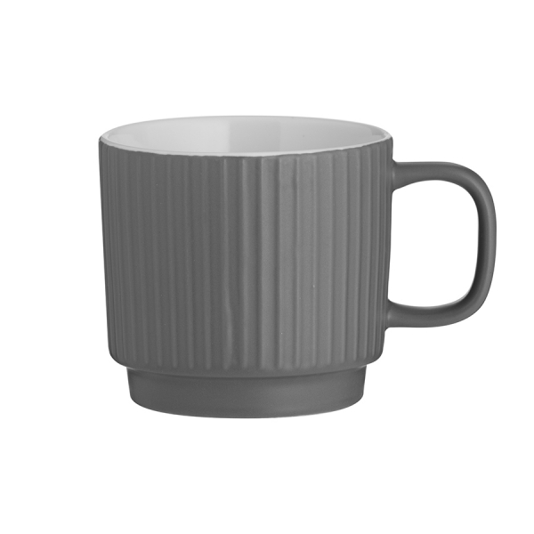 Чашка embossed серая 355 мл