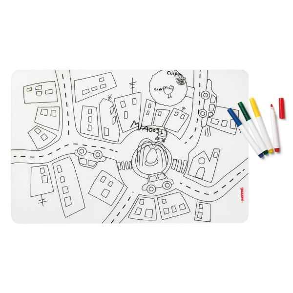 Набор из коврика-раскраски и 4 маркеров bimbi