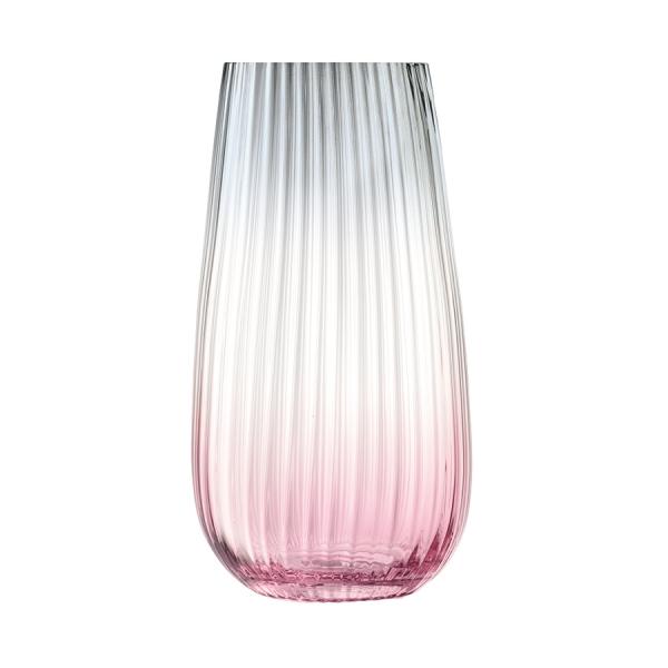 Ваза dusk 28см розовая-серая