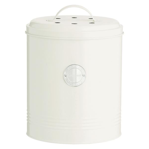 Контейнер для пищевых отходов living кремовый 2,5 л