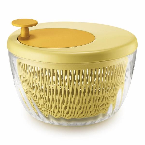 Сушилка для салата twist&dry желтая