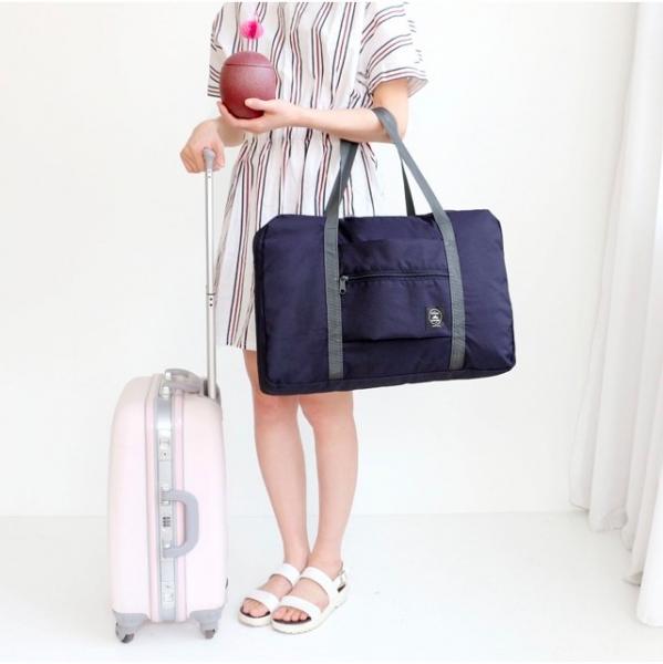 Складная дорожная сумка Folding Carry Bag Iconic синяя