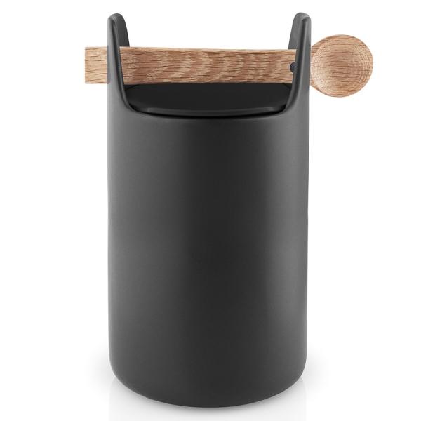 Емкость для хранения toolbox с крышкой и ложкой 20 см черный