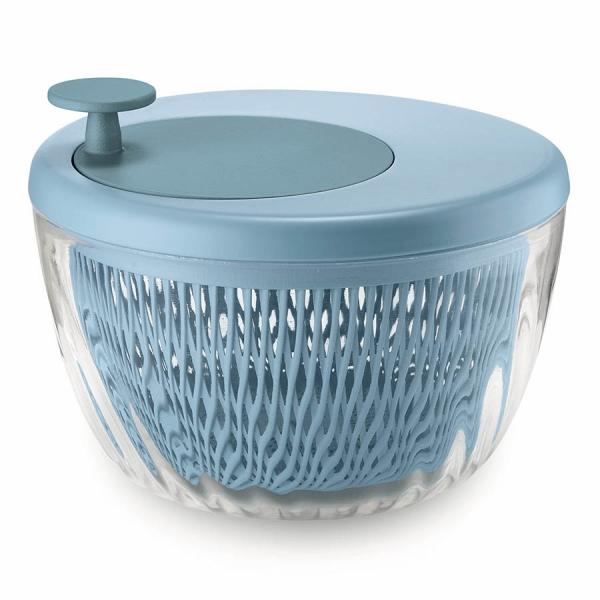 Сушилка для салата twist&dry голубая