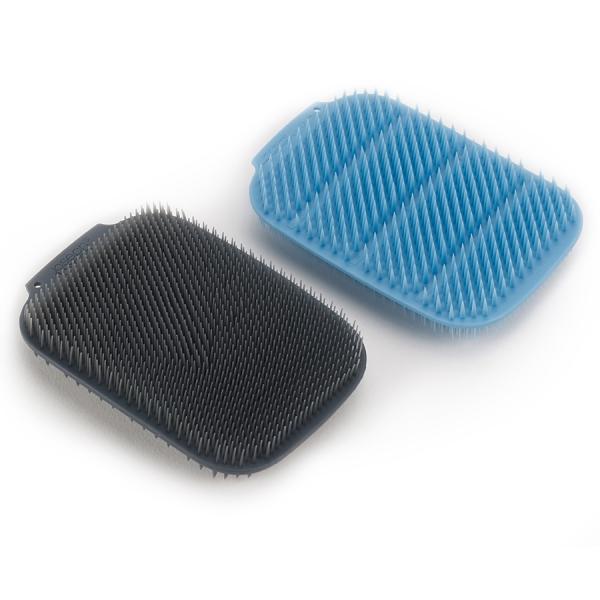 Набор из 2 малых щеток для мытья посуды cleantech синий/серый