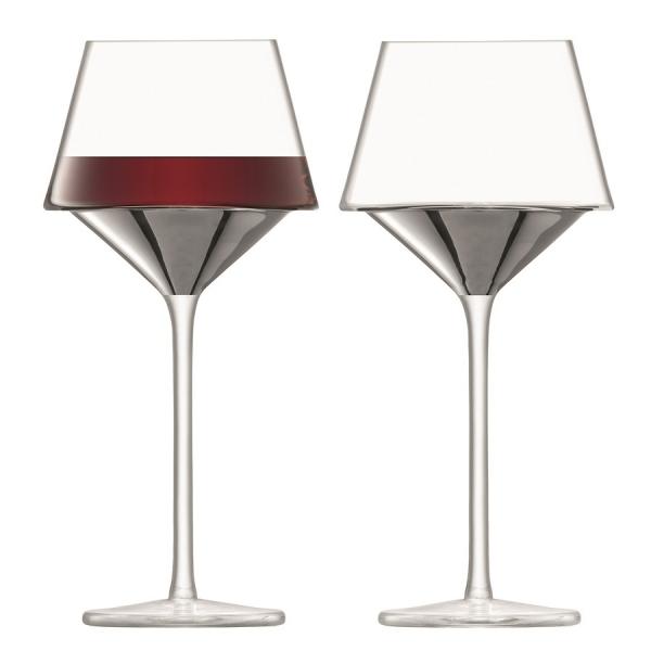 Набор из 2 бокалов для вина space 445 мл платина