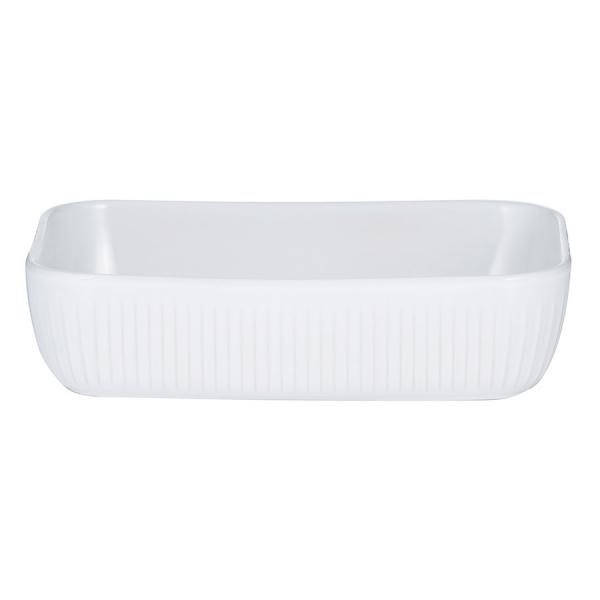 Блюдо для запекания linear прямоугольное 24х16 см белое