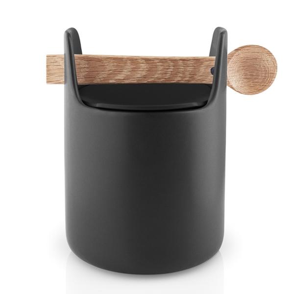 Емкость для хранения toolbox с крышкой и ложкой 15 см черный