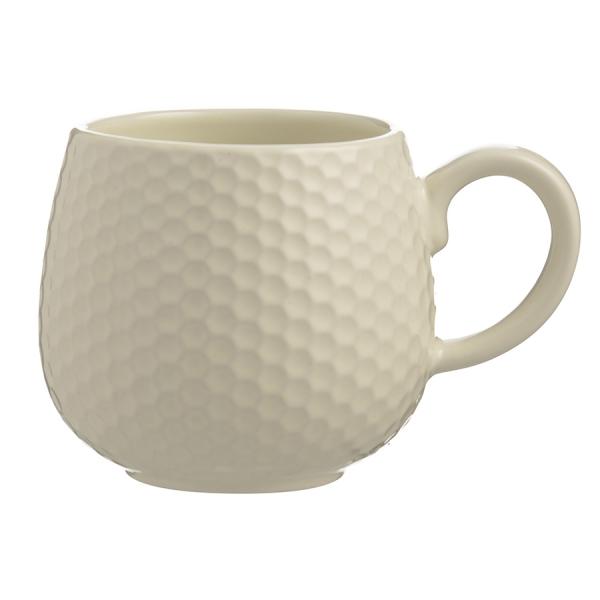 Чашка embossed 350 мл кремовая