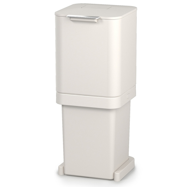 Контейнер для мусора с двумя баками totem pop 40 л белый