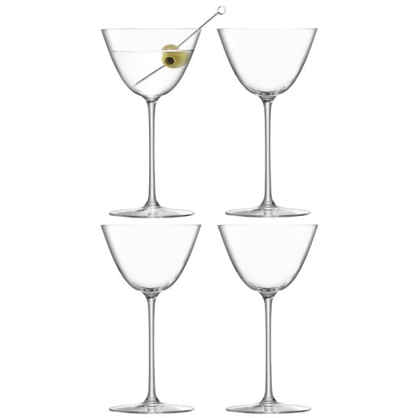 Набор из 4 бокалов для мартини borough 195 мл
