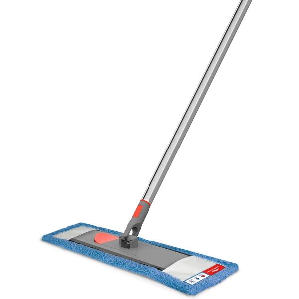 Швабра для мытья пола с телескопической ручкой 160 см и насадкой