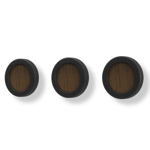 Вешалки-крючки hub черные/орех