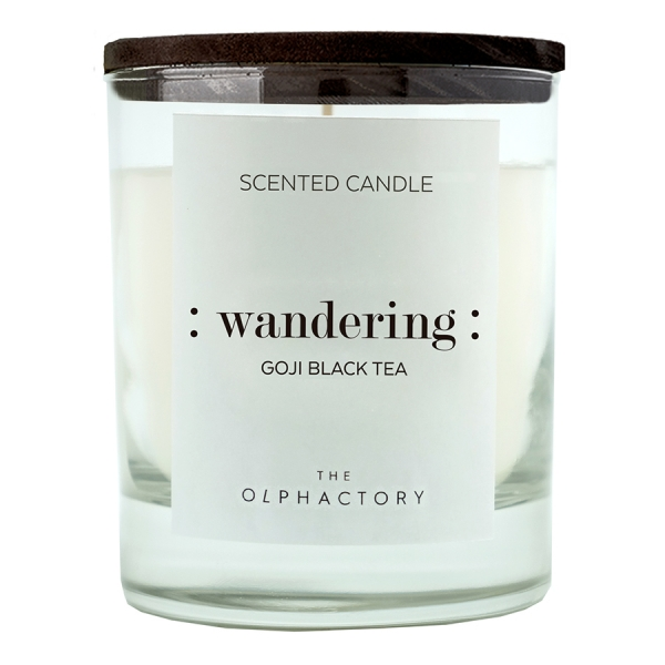 Свеча ароматическая the olphactory wandering black Ягоды годжи 40 ч