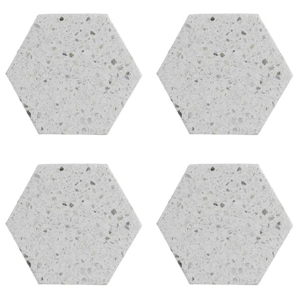 Набор из 4 подставок из камня elements hexagonal 10 см