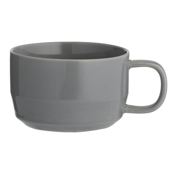 Чашка для каппучино cafe concept 400 мл темно-серая
