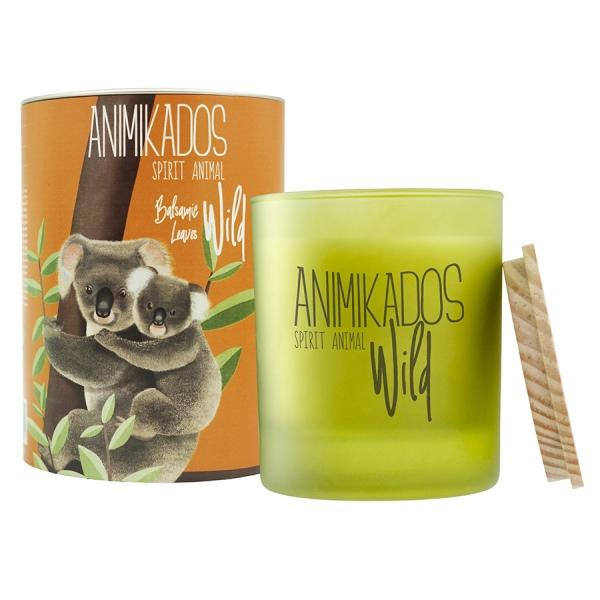 Свеча ароматическая wild koala Бальзамические листья 40 ч