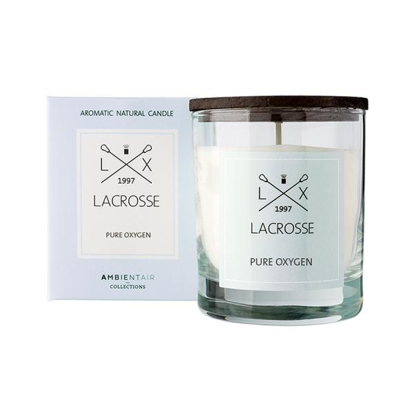 Свеча ароматическая в стекле lacrosse Кислород 40 ч