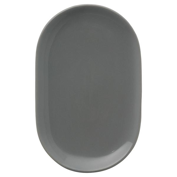 Тарелка сервировочная cafe concept 19,6х12,5 см темно-серая
