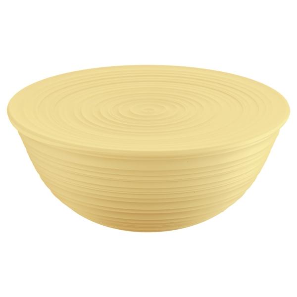 Миска с крышкой tierra 30 см желтая