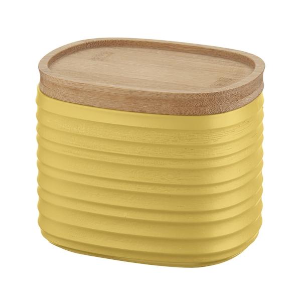 Емкость для хранения с бамбуковой крышкой tierra 500 мл желтая