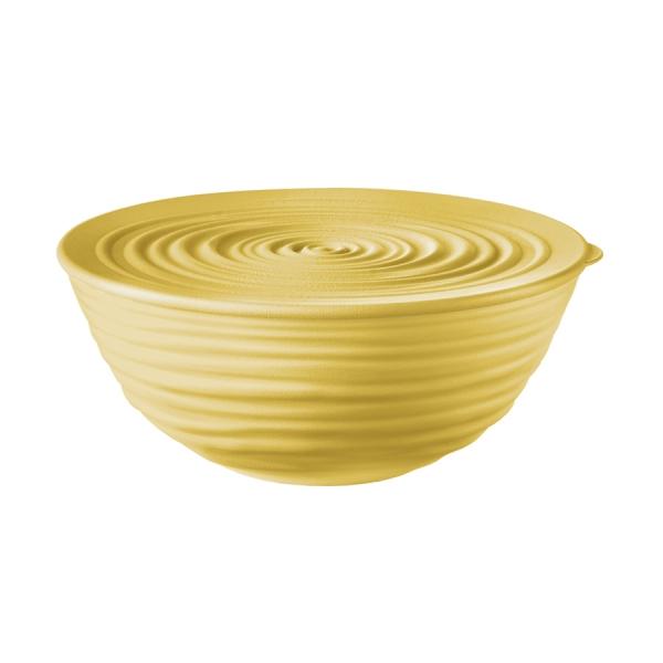 Миска с крышкой tierra 18 см желтая
